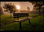 Foggy Sunrise by KeldBach
