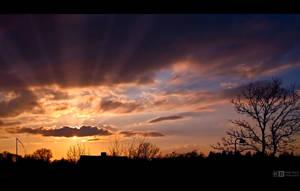 Sunset in April by KeldBach