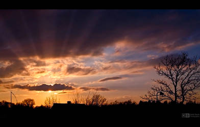 Sunset in April by KeldBach
