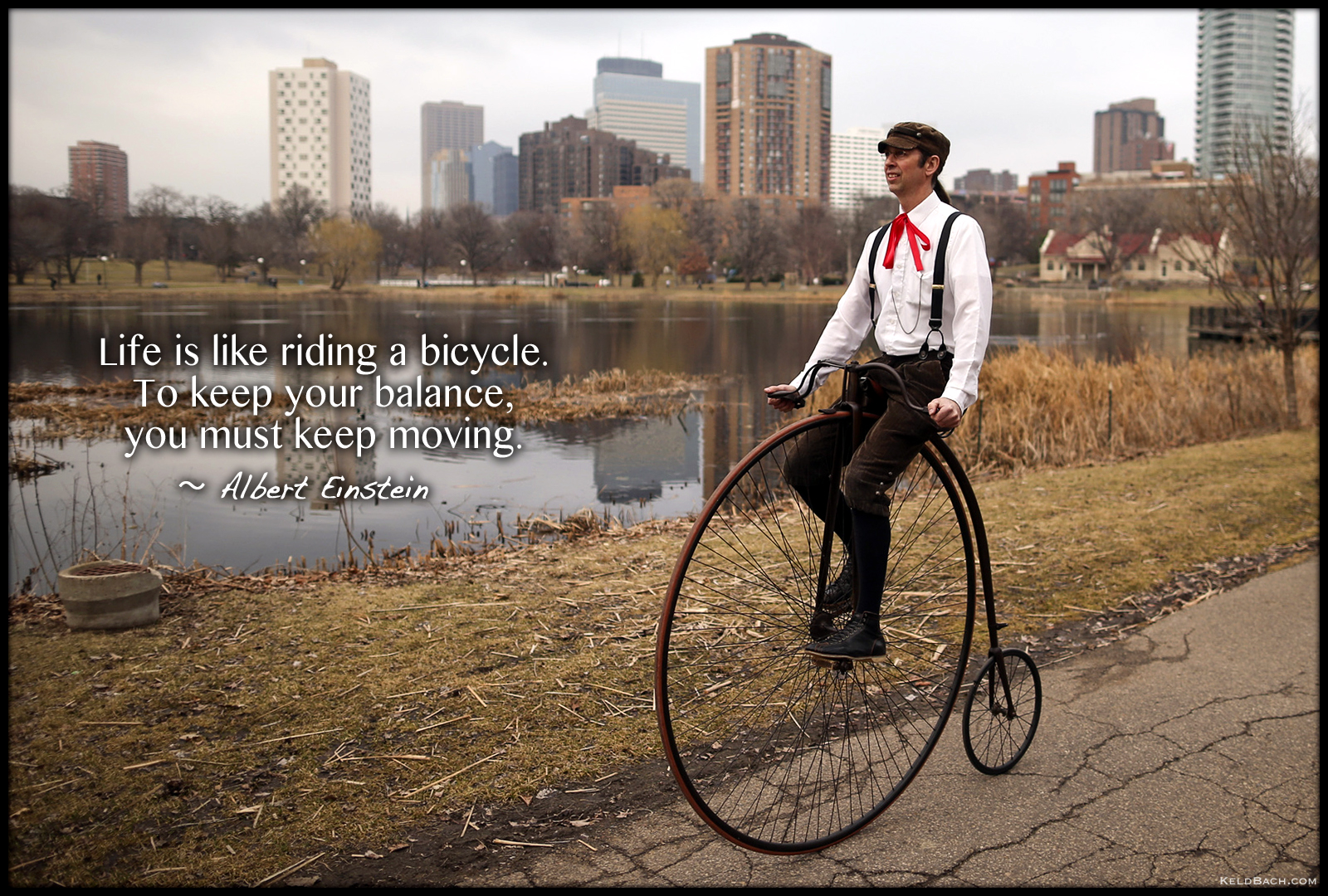 Life is Like Riding a Bicycle by KeldBach
