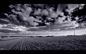 Twin Turbines in B/W by KeldBach