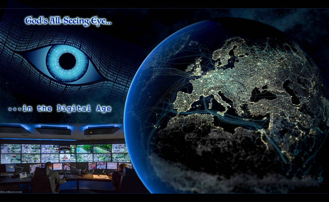 God's All-Seeing Cyber Eye by KeldBach