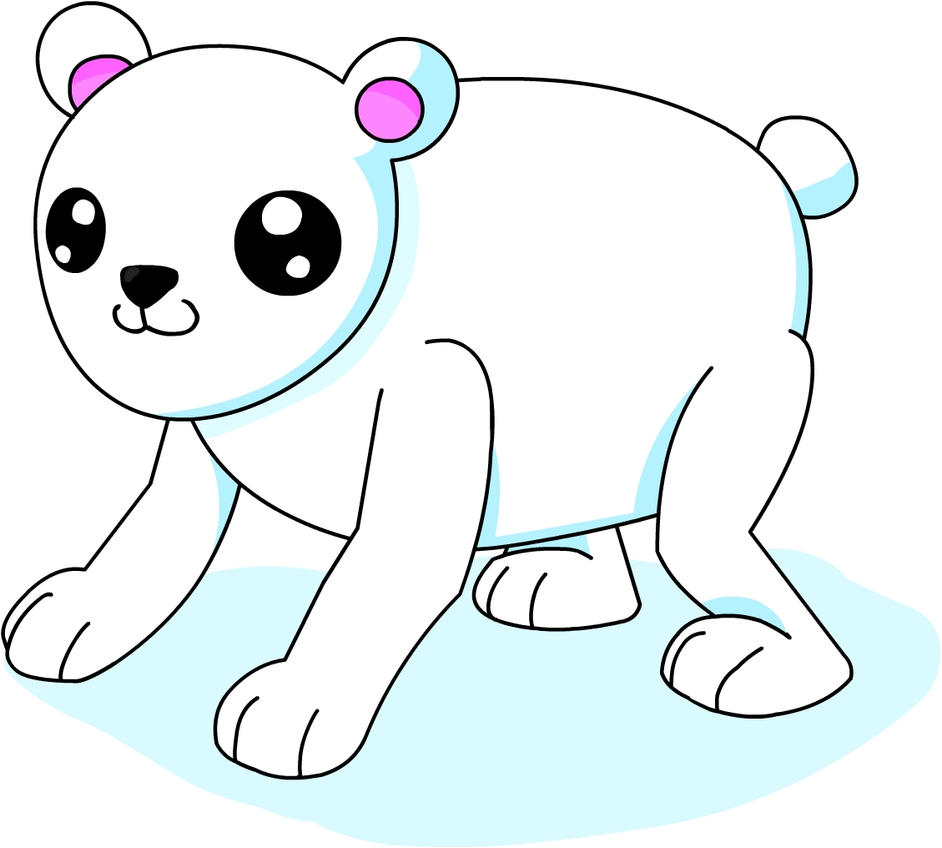 how to draw a polar bear cub
