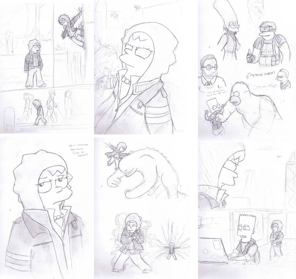 Sketchdump- Prototype Simpsons by CorsairsEdge