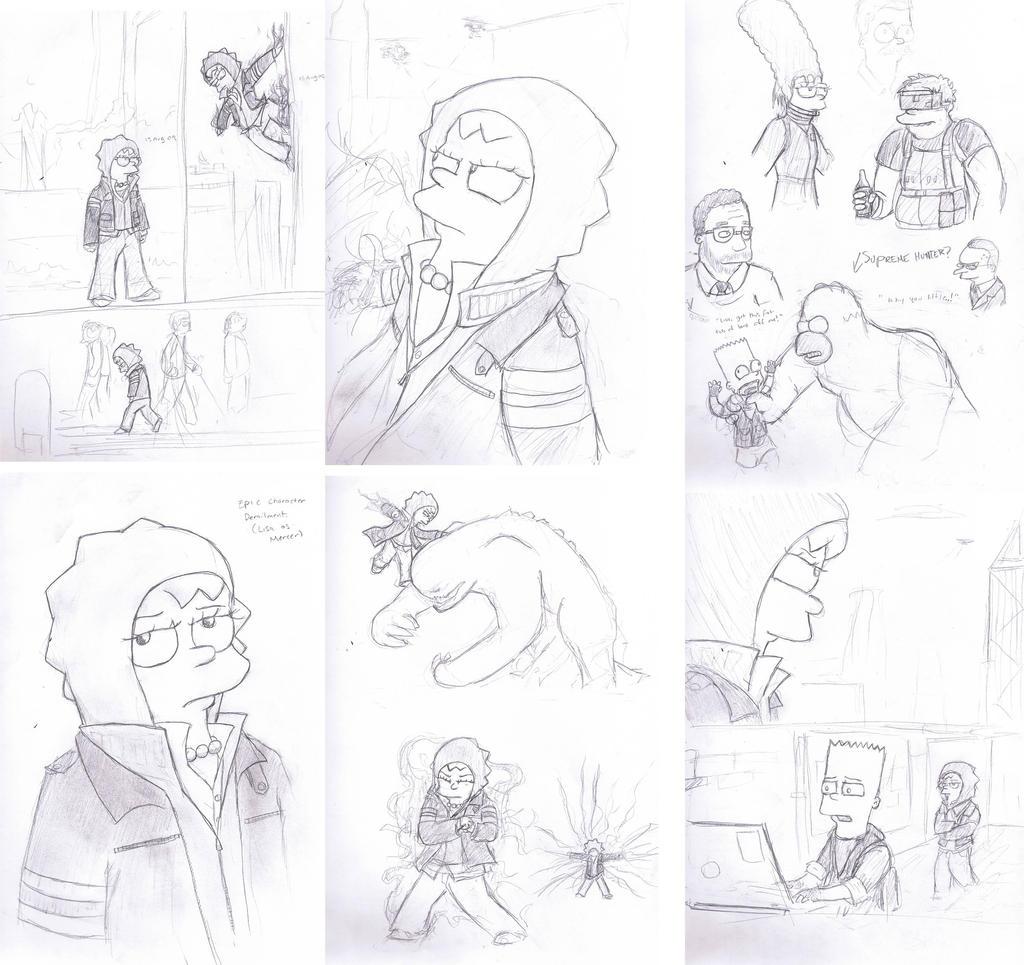 Sketchdump- Prototype Simpsons by CorsairsEdge