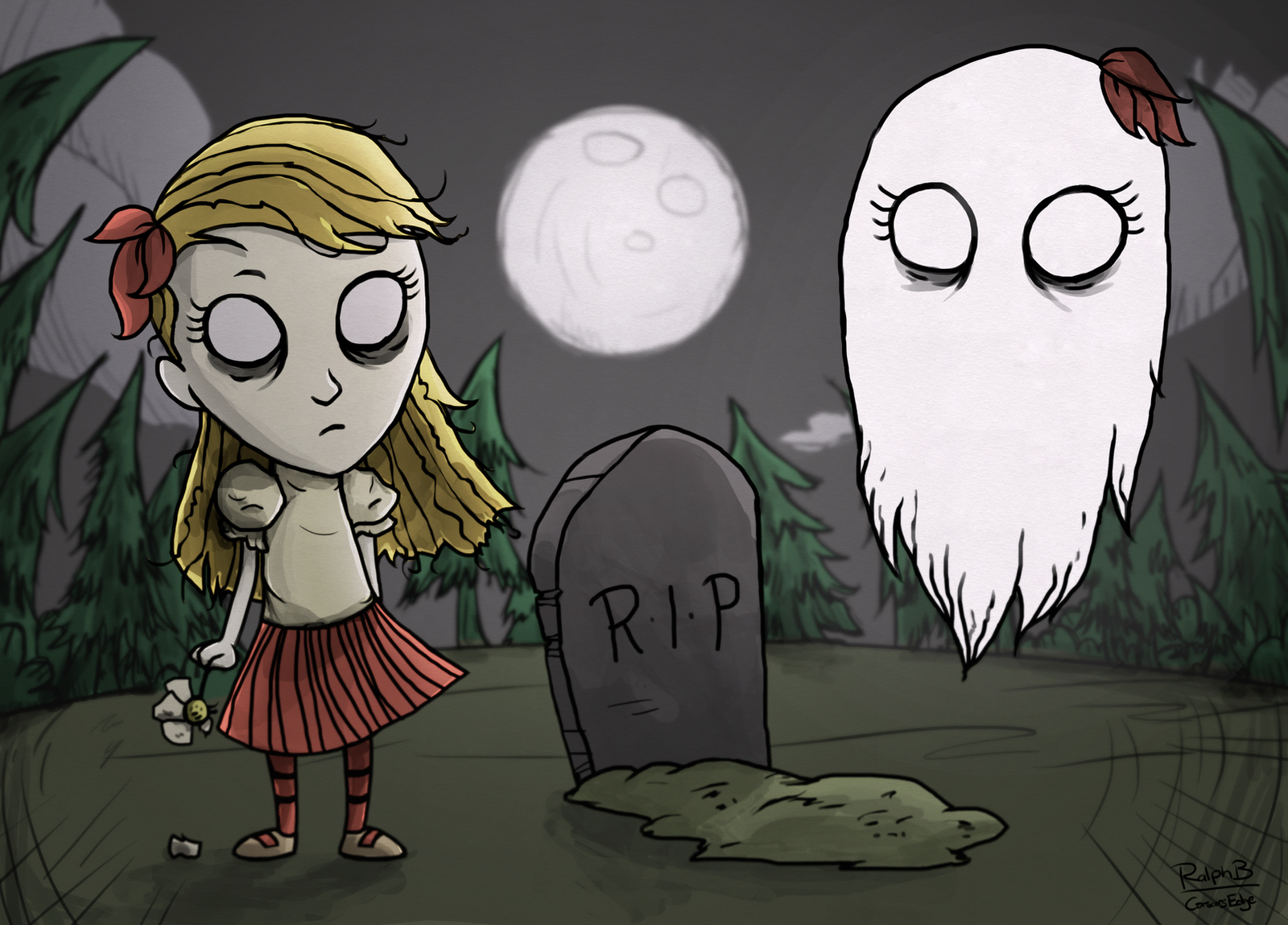 Don't Starve - Wendy and Abigail by CorsairsEdge
