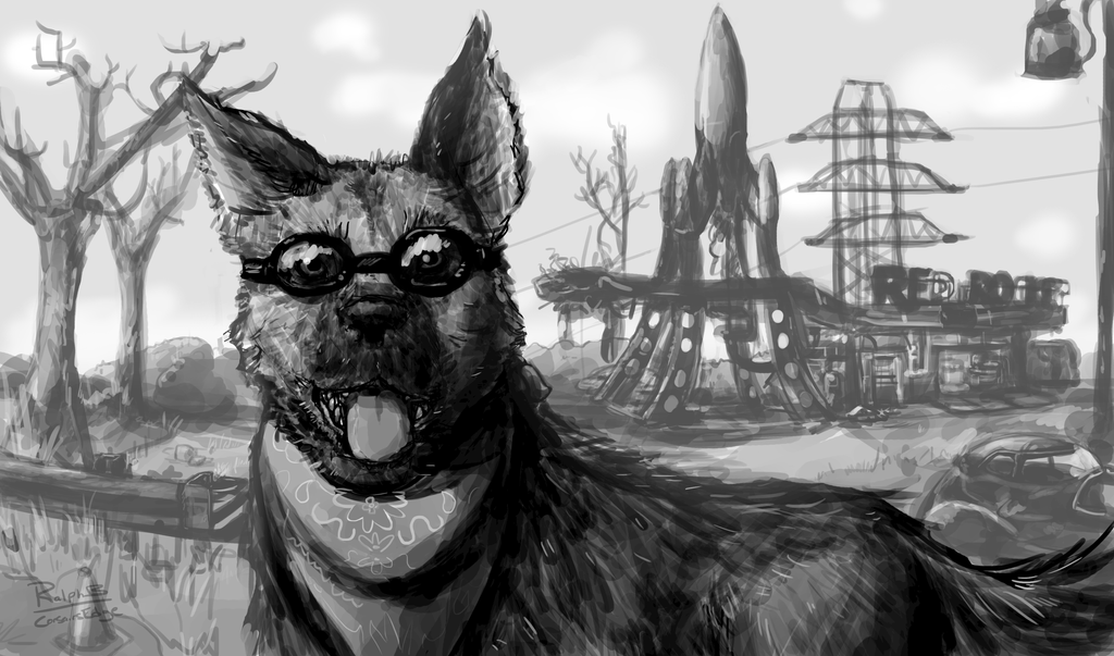 Dogmeat w Doggles by CorsairsEdge
