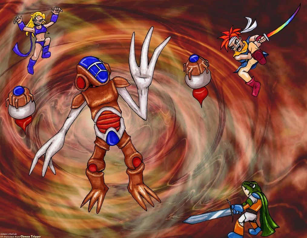 Lavos Battle by Zail