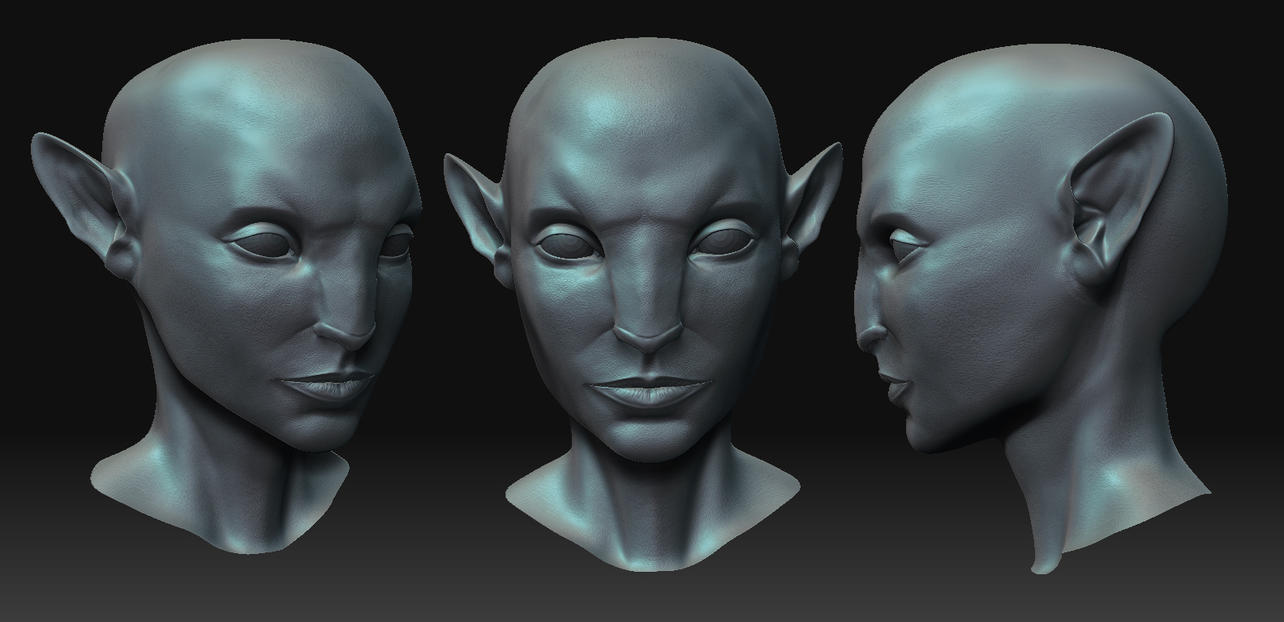 Avatar face WIP by shalizeh