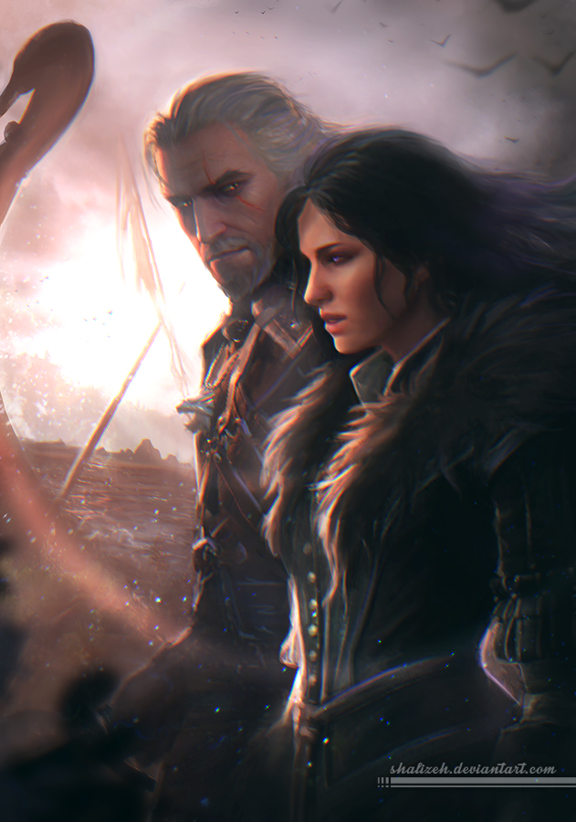geralt and yennefer by -#main