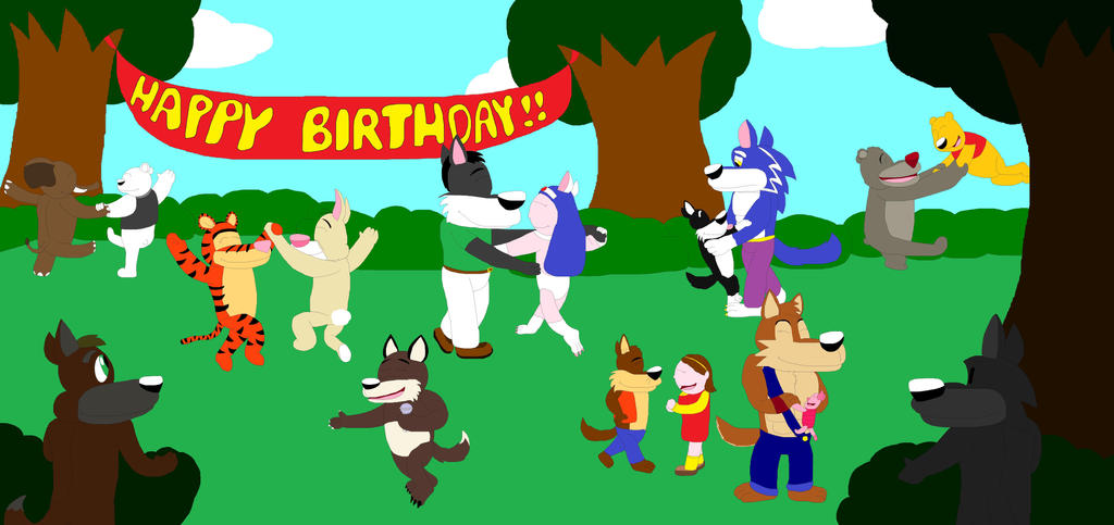 Celebrating my birthday at the forest by marlon94
