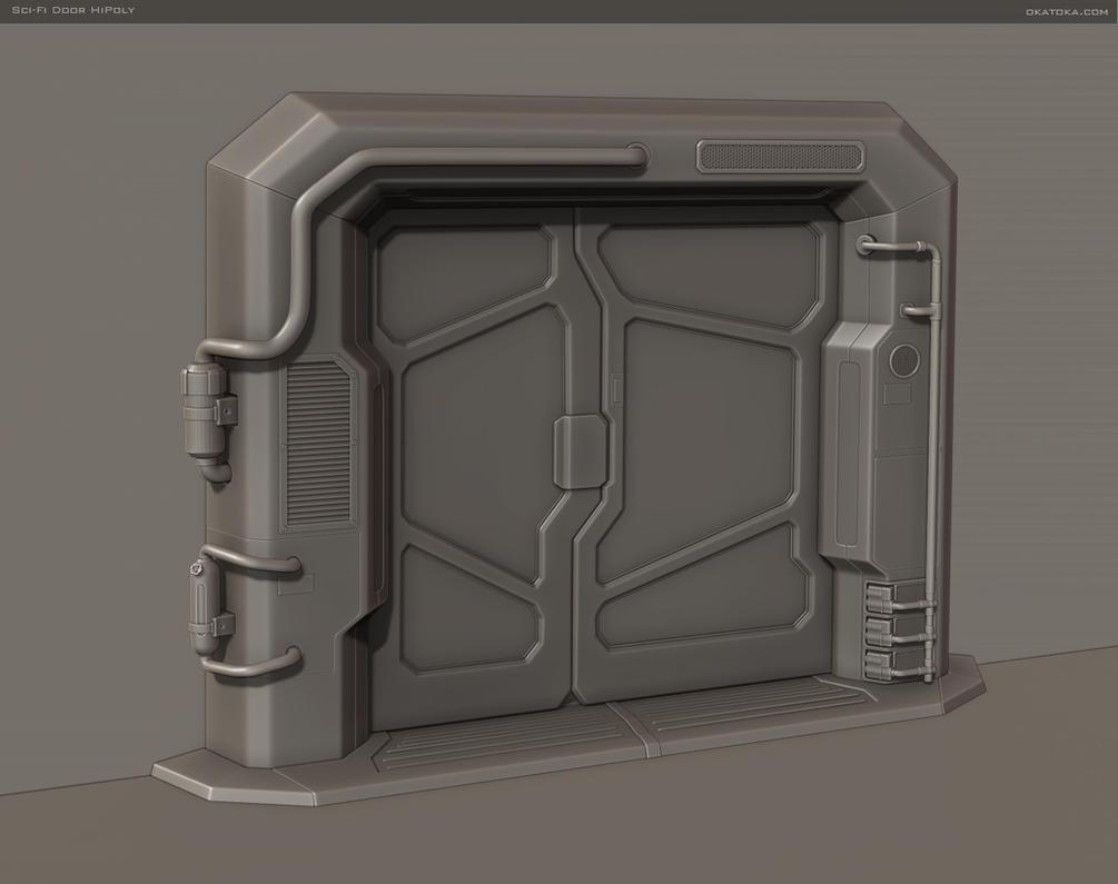 Sci fi door hipoly by oka toka on deviantart - Several artistic concepts for main door ...