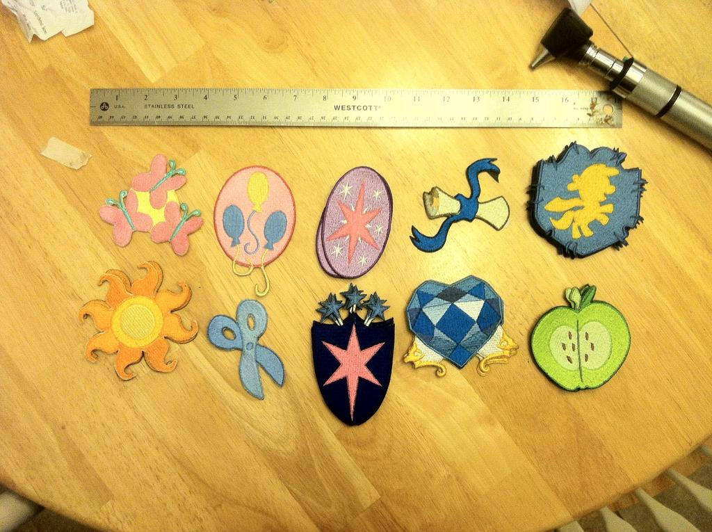 Embroidered Cutie Mark Patches