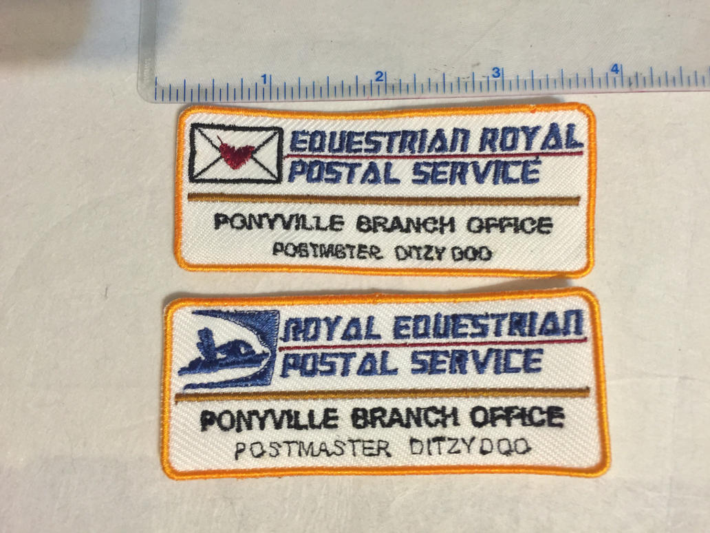 Royal Equestrian Postal Service Name Badge by ScrwLoose