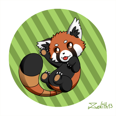 Chibi red panda - photo#10