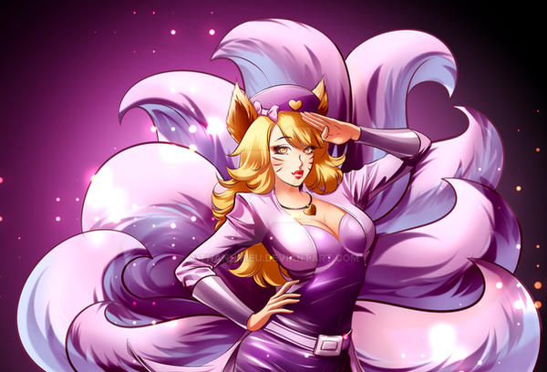 Commission: Ahri popstar from LoL by ThanhMieu on DeviantArt Lol Ahri Hot
