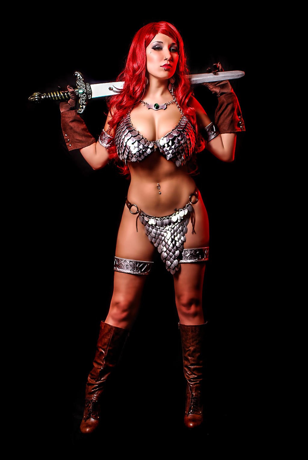 Red Sonja 3 by malcolmflowers