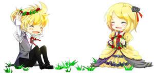Aku no Shirizu-rin and len by earltious