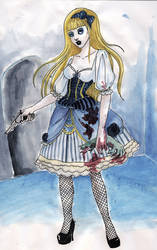 Alice in Zombieland by koffinkandy