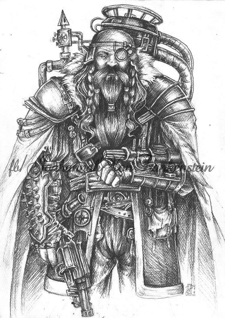dwarf warrior by koffinkandy