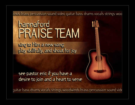Praise Team Recruitment
