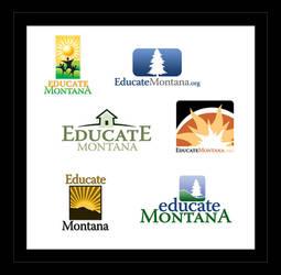 Educate Montana Logo Designs