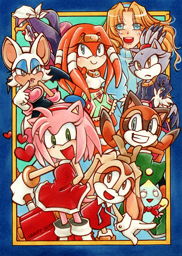 Sonic the Hedgehog : Girls by Tiara-C