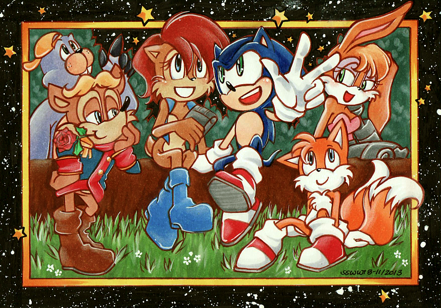 25 years ago today the sonic satam series debuted in the united