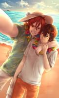 Beach Selfie by KougamiSayaka