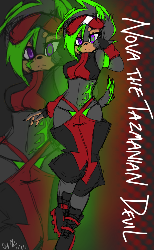 Nova the Tazmanian Devil [REVAMP] by juke-boxx
