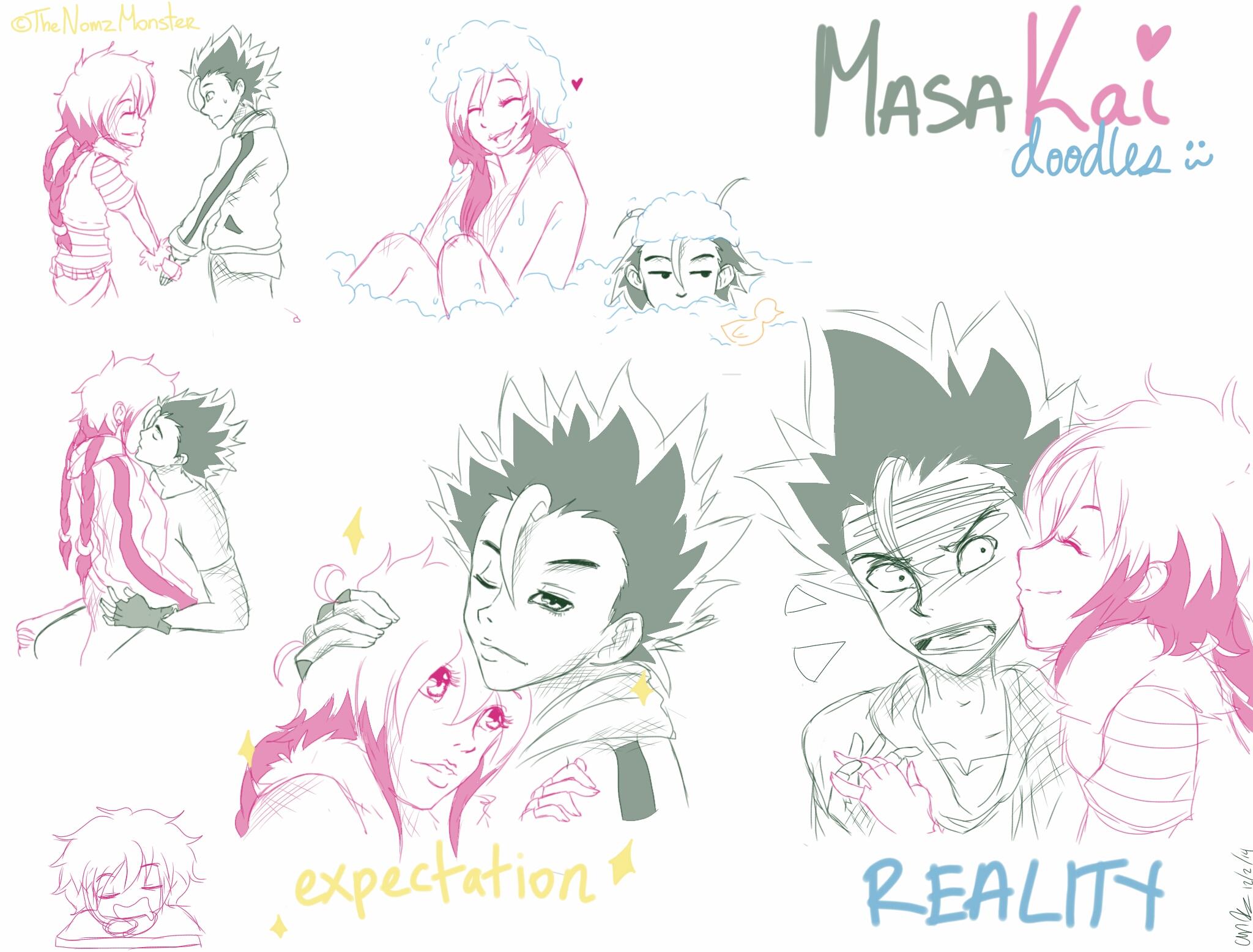 MasaKai/Persistanceshipping Doodles by juke-boxx