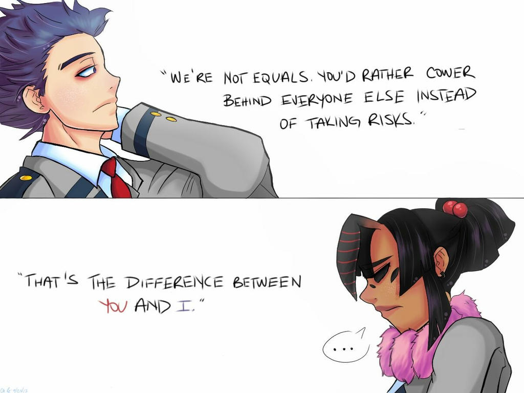 We're not equals. by juke-boxx