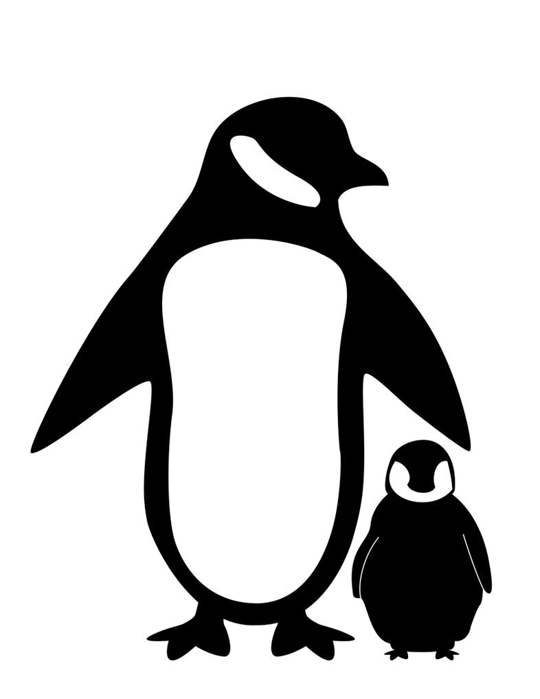 penguin silhouetteshaunqb on deviantart