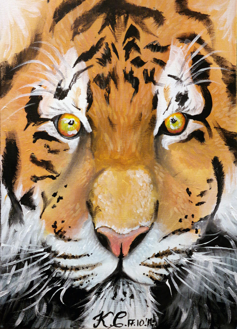 Bengal tiger by pringlesaddict99