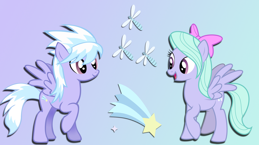 Cloudchaser and Flitter Wallpaper by Dawn-Sparkle06