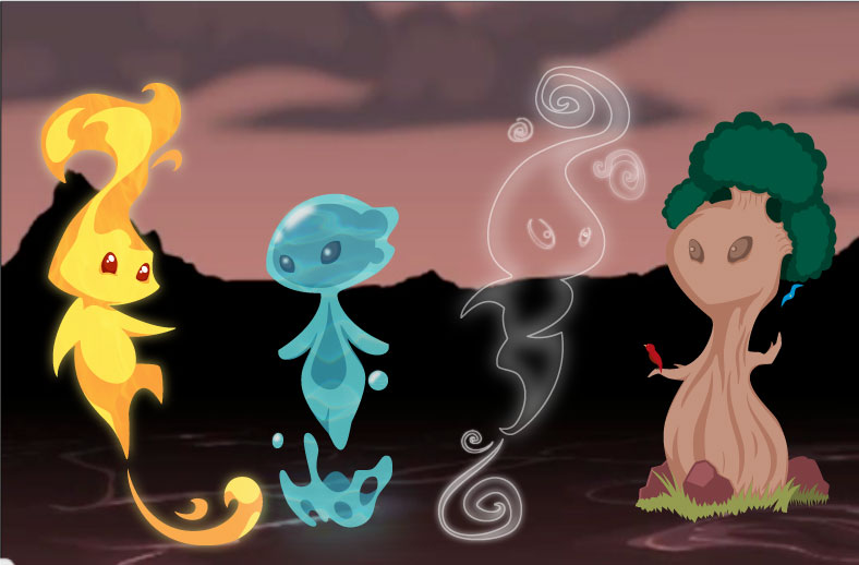 Four Elements Art : The four elements by phandy on deviantart