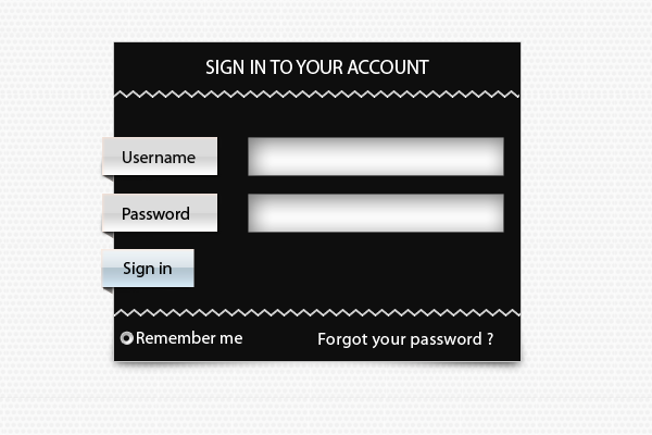 Black Sign Up Form by psd-fan