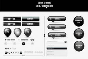 Black Web UI Elemetns by psd-fan