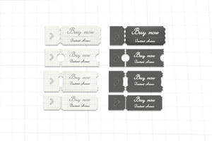Hand Drawn Buy Now Buttons by psd-fan