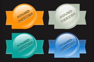 Round Style Badges by psd-fan