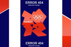 404 London Olympics Error Page by psd-fan