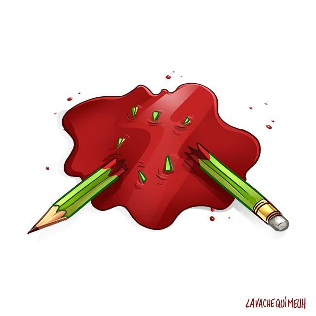 Tribute to Charlie Hebdo by Djoz