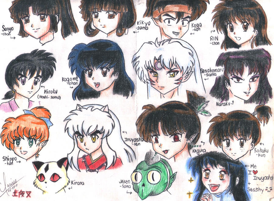 Inuyasha Characters By Spogunasya