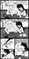 Inuyasha: The DAMN kiss by spogunasya