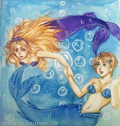 Hetalia : Pisces (Belarus and Ukraine) by spogunasya