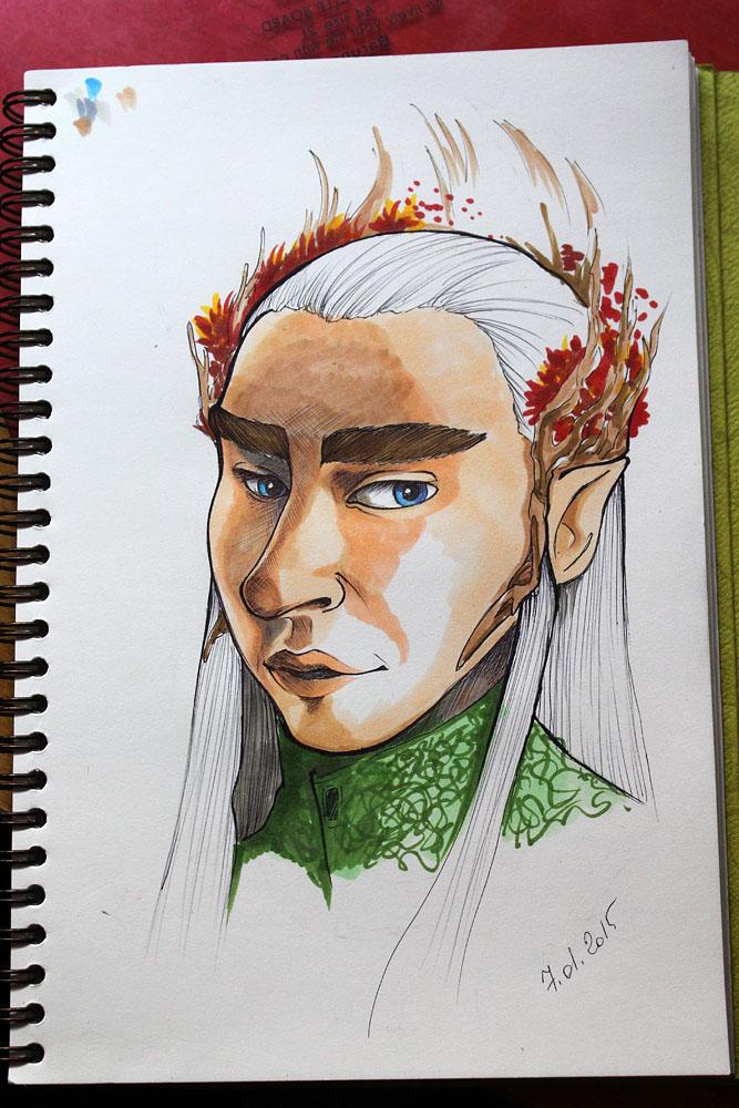 Sketch ~ Thranduil by veternity