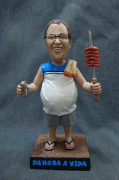 Barbecue day - 7 inches bobblehead figure