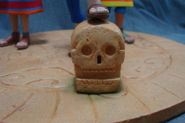 Teotihuacan stone skull