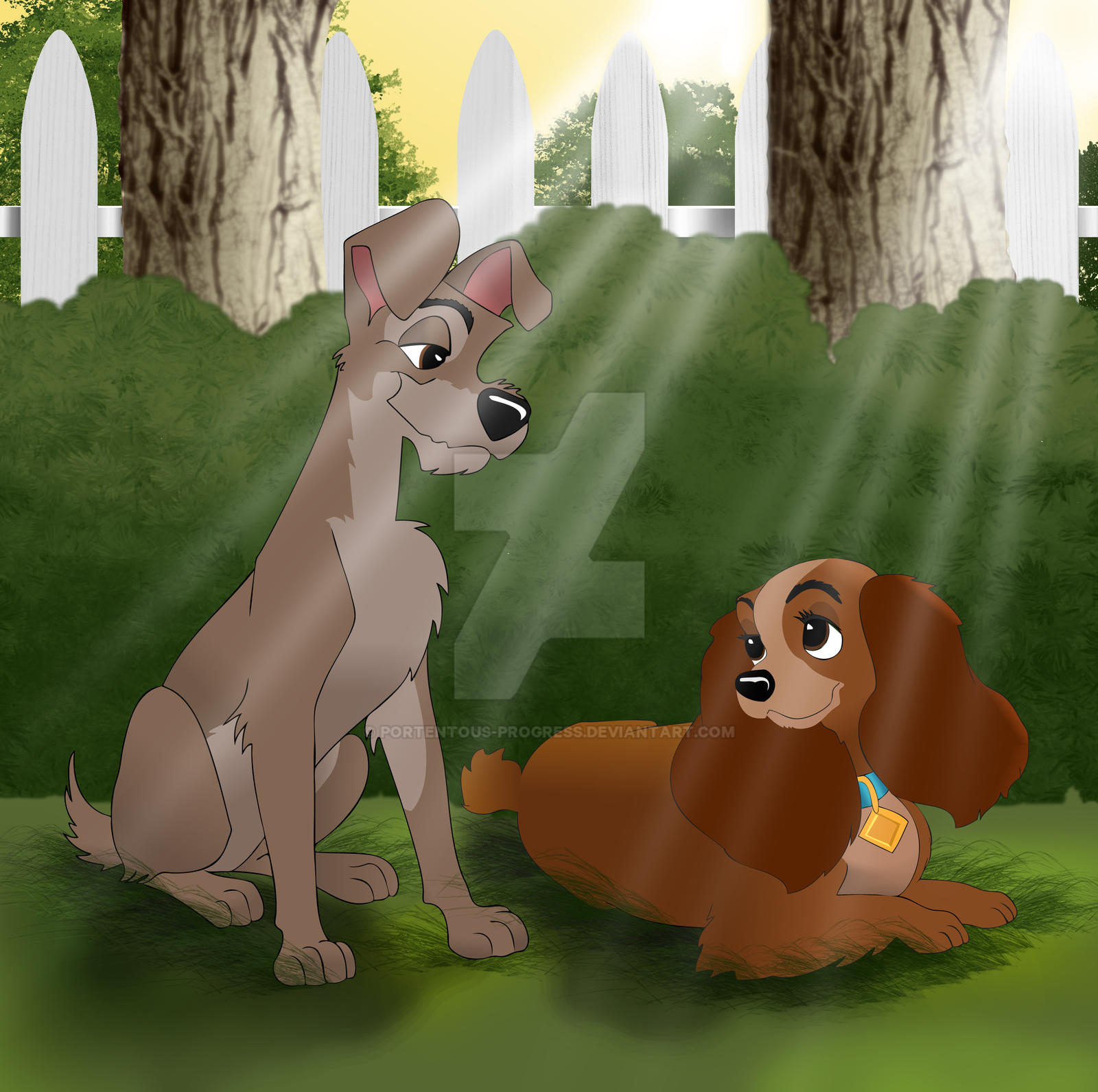 Lady and the Tramp by Portentous-Progress