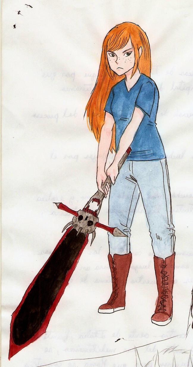 Akari - concept - sword by Daviinc